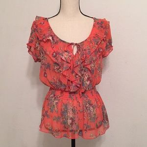 Poetry Coral Blouse